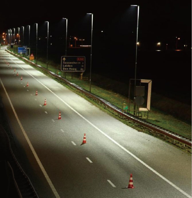 Amsterdam highway LED lighting